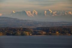 Les Alpes et le Lac de Bienne