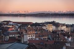 Fin de journée sur Neuchâtel