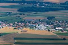 Panorama sur le village de Fontaines
